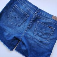 "SEVEN 7 Women's Denim Blue Jeans Stretch Shorts Jorts SZ 12 38"" Waist"
