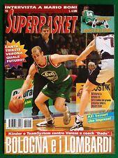SUPERBASKET 1998 n.18 , Rivista super basket , BOLOGNA E I LOMBARDI MARIO BONI