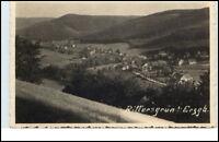 Rittersgrün Sachsen DDR Erzgebirge AK 1961 Panorama Totale Wald Berge gelaufen