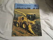1998 NEW HOLLAND FX28 FX85 SELF PROPELLED FORAGE HARVESTERS SALES BROCHURE
