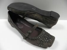 Chaussures BIVIEL marron FEMME taille 37 cuir plate habillé woman shoes NEUF