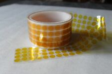 """DIE CUTTING KAPTON POLYIMIDE DOTS DISCS 3/4"""" * 1000 DOTS/PC -2.5 MIL THICK -NEW"""