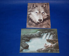 "#24051 WOLF/WOLVES 5"" X 7"" BLANK GREETING CARDS AND ENVELOPES PACK OF FOUR"