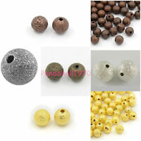 Silver Tone//Antique Bronze//Golden //Red Copper Round Stardust Bead Jewelry Making
