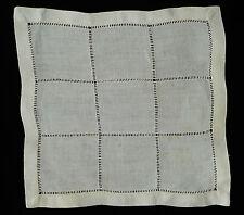 ANCIEN NAPPERON CARRE JOURS VENISE / 22 cm au carré