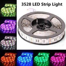 3528 Bright 12V 5M 16.4ft RGB Waterproof SMD 300 LED Flexible Strip light USA