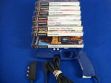 ps2 *G-CON 2 LIGHT GUN + 4 Gun Games of Your Choice* Time Crisis, Gunfighter