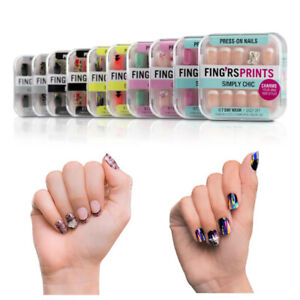 Fing'rs Prints 24 Press-on Nails w/ 2 Charms SELECT STYLE