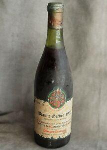 Bouteille de vin Bourgogne Beaune-Grèves 1965 Pasquier-Desvignes vintage wine