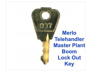 Merlo Telehandler Boom Lock Out Key Master Plant Excavator Digger Dumper Tractor