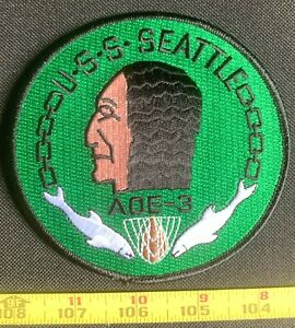 US Military USS Seattle AOE-3 Fast Combat Support Ship NAVY Embroidered Patch