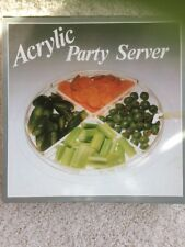Acrylic Party Server Serving Tray Platter With Four Removeable Sections NEW