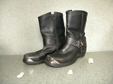 Black Leather Biker Low/Mid Boots Men's Size 8 1/2D by Dingo Used/Great Cond