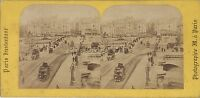Parigi Pont Nuovo Francia Foto Stereo Stereoview Vintage Albumina Ca 1860