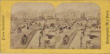 Paris Pont Neuf France Photo Stéréo Stereoview Vintage albumine ca 1860