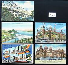 1930's 1940's 1950's Postcard Lot ~ South Dakota ~ 20 Postcards ~ Free Shipping