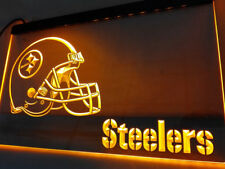 Pittsburgh Steelers YELLOW Neon LED Sign Light Bar Pub Man Cave NFL USA Sell