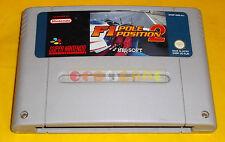 F1 POLE POSITION 2 Super Nintendo SNES F 1 Vers PAL Europea ○○○○○ SOLO CARTUCCIA