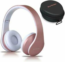 Wireless Bluetooth Headphones Headset Stereo Foldable with Case - Rose Gold