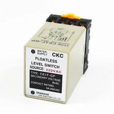 C61F-GP AC 220V 50/60 Hz 8 Pin Liquid Floatless Level Switch Controller W Base