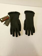 Black Weatherproof Gloves Touch Screen Compatible