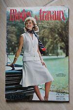 MODES ET TRAVAUX N°883 1974 mode fashion couture tricot pages poupées PATRON