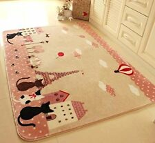 Carpets For Home Living Room Cartoon Tower Kids Bedroom Floor Mat Area Rugs Hot@