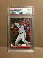 2018 Topps Update Carter Kieboom Gold RC #US109 PSA 9 MINT Washington Nationals