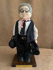 The Physician handmade Doctor Plush Doll 1980s folk art sculpture old man cloth