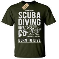 SCUBA DIVING Mens T Shirt S-5XL diver tee divers Present birthday gift