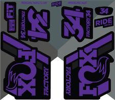 Fox 34 2018 Style Sticker Decal Sets- Enduro, DH, Purple