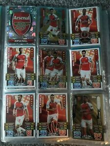 FULL Arsenal Team 15/16 Match Attax- INCLUDES GOLD LIMITED EDITION OLIVER GIROUD
