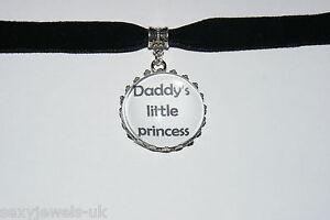 Daddy's Princess Black Velvet Choker Necklace Jewellery Fetish Bondage Collar