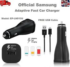 100% Genuine Fast Car Charger for Samsung S7 S6 Edge NOTE 4 5 + FREE USB Cable