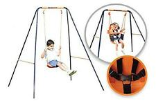 Hedstrom 2 in 1 Childs Outdoor Play Swing 5 Point Harness Extendable Steel Frame