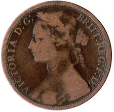 More details for 1874 one penny of queen victoria /heaton mint /very fine details  #jan103