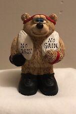 Novelty Gym Bear Workout No Pain No Gain Decorative Figurine Funny Made USA