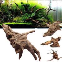 Wooden Aquarium Driftwood Fish Tank Hide Cave Trunk Bole Home Decor Ornament UK