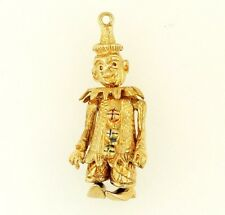 9Carat Yellow Gold Movable Clown Charm (13x27mm)