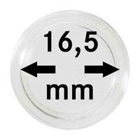 Lindner 2250165P Münzenkapseln 16,5 mm 10er Pack