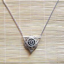 steampunk punk rock pendant necklace Deathly Hallows gear boy girl women jewelry