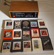 Working Sharp RT-811E 8 Track Player + Classic Rock Cartridges Lot