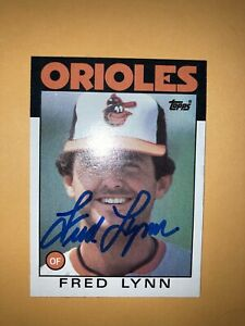 Fred Lynn Baltimore Orioles auto signed autographed Card all star
