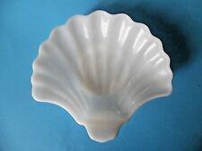 Vintage White Milk Glass Shell Shape Candy And/Or Trinket Dish