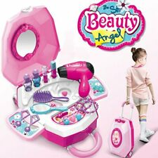 Vanity Play Set Girls Pretend Play Makeup Girls Portable Toys Make Up Princess