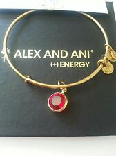 NWT ALEX and ANI Ruby RED CRYSTAL BOX CHANEL July CHARM Gold BRACELET