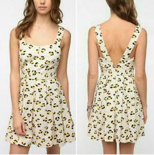 Urban Outfiters COOPERATIVE 'Liz Dress' 50's Pin Up Cheetah Print SZ 4