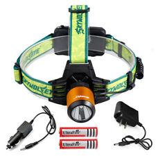 90000LMS LED Rechargeable Headlight Headlamp Head Lamp Light Set Camping Hiking