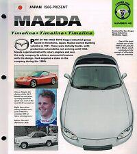 MAZDA Timeline History Mini-Brochure : RX-4,COSMO110S,RX-7,TURBO,R100,MIATA,626,