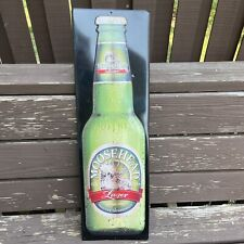Moosehead Lager Metal Tin Beer Sign 9 x 29 Inches